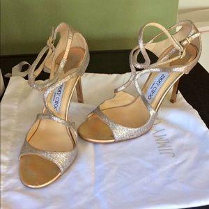 "Gold shimmer Jimmy choo 4"" heels"